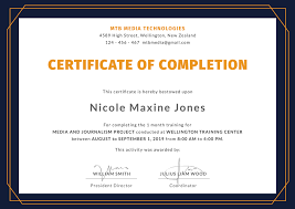 Certificate Of Completion Templates Certificate Completion Printable Training Template Pdf Doc