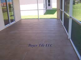 large format ceramic tile in normal 50 brick pattern