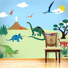 dinosaur wallpaper mural wall decals