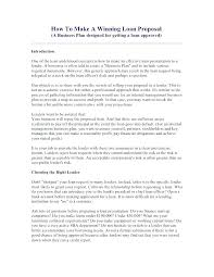 Small Business Loan Forms Cover Letter Proposal Template Awesome