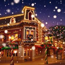 christmas town wallpaper. Contemporary Christmas Disneyland Christmas  Disneyland Christmas Town With Snowy Main Street HD  IPad Wallpapers  Throughout Wallpaper D