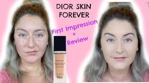 dior skin flawless foundation first impression review acne oily sierra sando