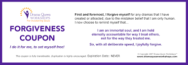 Downloadable Coupons Your Forgiveness Coupons Drama Queen Workshops