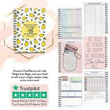 Food Diary Slimming World Friendly Weight Loss Log Tracker Planner 2019 New V461 Ebay