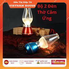 HOT🔴Đèn Dầu Cảm Ứng Điện Tử LED Thổi Tắt - Không Khói, Đèn Để Bàn Thờ  Trang Trí Sạc Pin - Tích Điện Siêu Tiện.
