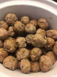 Asian meatballs on snow peas picks