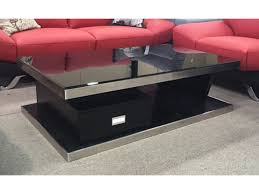 modern black tempered glass coffee table with  drawer  sunny