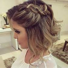 Coiffure Mariage Cheveux Courts Tresse