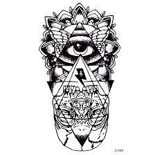 Boží Oko Vodotěsné Dočasné Tetování Nálepka Totem Henna Tetování