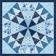 315 best Blue quilts images on Pinterest | Patchwork embutido ... & free pattern = Winter's Grandeur mini quilt, 26 x 26