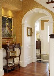 Archway design entry victorian with round doorway white wood thick doorway