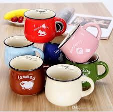 big mugs online.  Online Wholesale Big Belly Mug Multicolour Large Ceramic Zakka Milk Breakfast  Cup Barley Flake Custom Mugs Cheap Online From  Intended