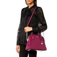 mercer large dome satchel mulberry image 3 michael kors cindy black