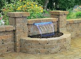 water feature best patio fountains with features 9 diy outdoor wall fountain creative