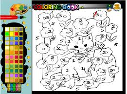 color by number coloring pages color by number cat coloring pages you