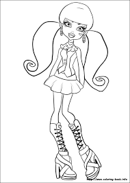 Small Picture Monster High coloring pages on Coloring Bookinfo