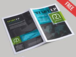 Foldable Brochure Template Free Free Startup Business Bi Fold Psd Brochure Template By