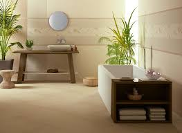frameless bathroom vanity mirror. Round Frameless Bathroom Vanity Mirror In A Charming Asian Inspired  With Wooden Table And White Tub Frameless Bathroom Vanity Mirror C