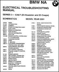 2001 bmw z3 roadster coupe electrical troubleshooting manual original bmw z3 fuse box diagram at Bmw Z3 Wiring Diagram