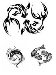 Pisces Tattoos Great Design For Zodiac Tattoos Tribal Pisces