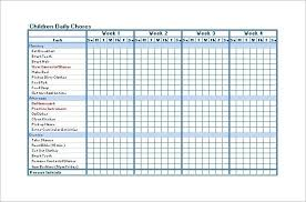 Free Monthly Chore Chart Template Prototypic Printable Monthly Chore Chart For Kids Free