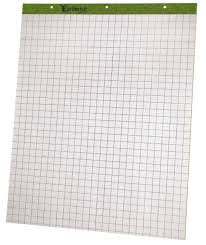 Tops 24 032r Flip Charts Easel Pad Quad Ruled 2pd Ct