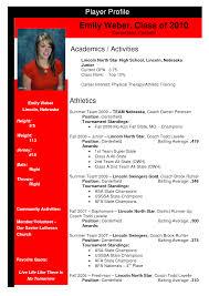 softball profile sample sample profile softball profiles softball profile sample emily weber team nebraska softball