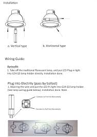 pl lamp wiring diagram pl image wiring diagram series vpl led 4 pin led lamp direct replacement for g24 q g24 d on pl