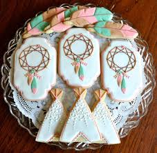 Dream Catcher Baby Shower Cake Bohemian Themed Baby Shower Cookie Connection 30