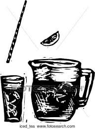 iced tea clipart black and white.  White Clipart  Iced Tea Fotosearch Search Clip Art Illustration Murals  Drawings And On Tea Black And White U