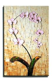 canvas wall art for kitchen canvas painting heavy texture painting wall art kitchen wall art flower