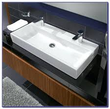 undermount bathroom sink trough bathroom sink with two faucets faucets verticyl rectangular undermount bathroom sink