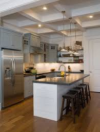 kitchen island table combination. Modren Kitchen A Simple Grey And White Combination To Host Your Sink Kitchen Island Table  Designs To Combination S