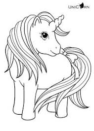 Cute My Little Unicorn Coloring Page Print Color Fun Intended