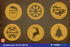 Modern set 25 solid glyphs and symbols such as vector. Christmas Coaster Laser Cnc Template Graphic By Powervector Creative Fabrica