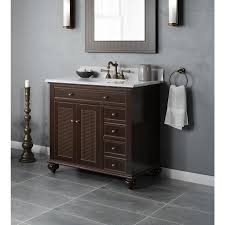 jacuzzi barrea 36 in espresso single sink bathroom vanity with white cararra marble natural marble top