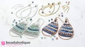 calypso wire wrapped earrings kit