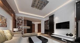 Living Room Modern Living Room With Symmetry Decoration Interior