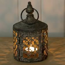 baby moorish garden candle lantern
