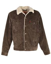 levi s brown corduroy sherpa lined jacket l image