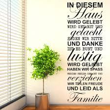 Wandtattoo Familienregeln Hausordnung