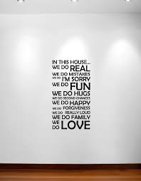 Wall Sticker Quotes Classy In This House We Do Wall Decal Sticker Quote 48 InnovativeStencils