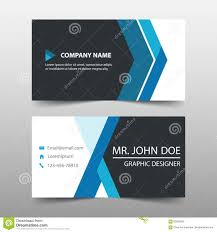 Blue Corporate Business Card Name Card Template Horizontal Simple