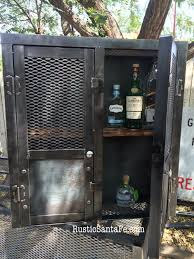 Industrial Bar Cabinet Industrial Hand Made Liquor Cabinet Rustic Wine Rack Home Bar