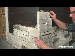 to install stone veneer siding panels
