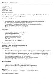 patient care assistant resumepatient care assistant resume le classeur - Patient  Care Assistant Resume