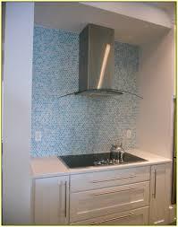 blue penny tile backsplash