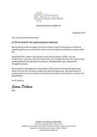 Diversity Role Models Letter Of Support Gay Games London 2018 Bid