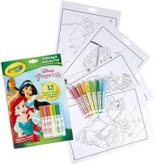 Not only does it help visual learners to remember the letters, but it serves as an important tool to help kids remember how to form letters as they begin to write. Amazon Com Crayola Disney Princess Color Activity Book 32 Coloring Pages 7 Mini Markers Gift For Kids Packaging May Vary Toys Games