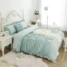 light velvet duvet cover
